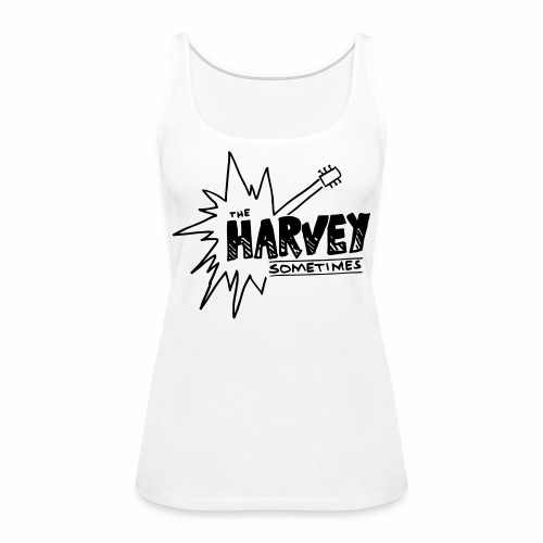 Band Logo - Black - Front and Back - Women's Premium Tank Top
