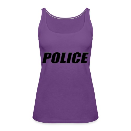 Police Black - Women's Premium Tank Top