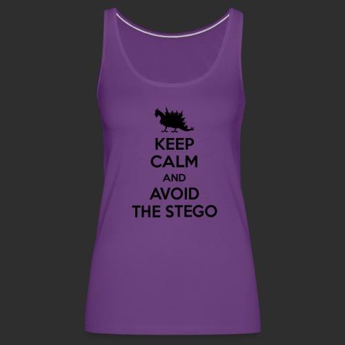 Keep Calm Black - Women's Premium Tank Top