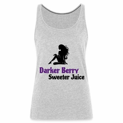 Darker Berry Sexy V - Women's Premium Tank Top