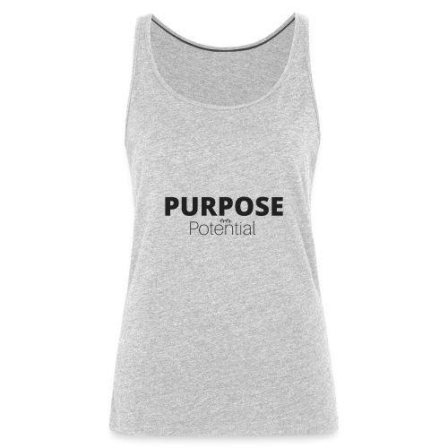 Purpose over potential - Women's Premium Tank Top