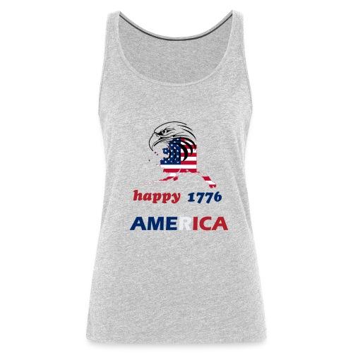 happy america 4th of july 1776 - Women's Premium Tank Top