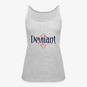 Deviiant blk center outl - Women's Premium Tank Top