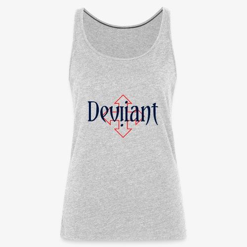 Deviiant blk center outl - Women's Premium Tank Top