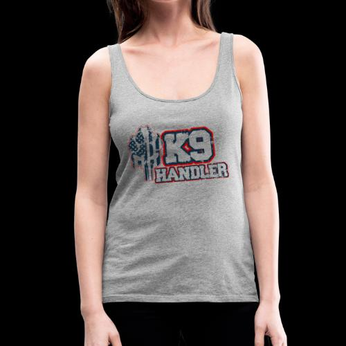 K9 Handler Front with Logo On Side - Women's Premium Tank Top