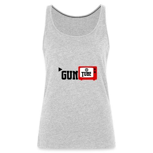 guntube larger logo - Women's Premium Tank Top