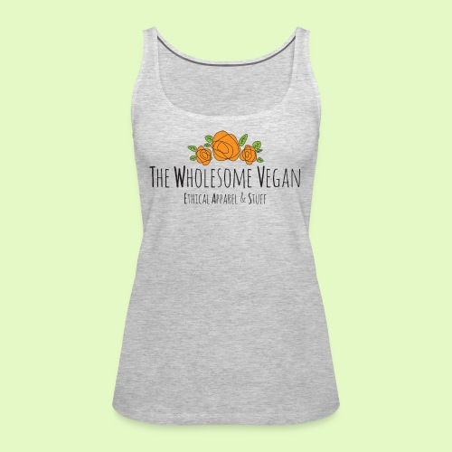 The Wholesome Vegan logo - Women's Premium Tank Top