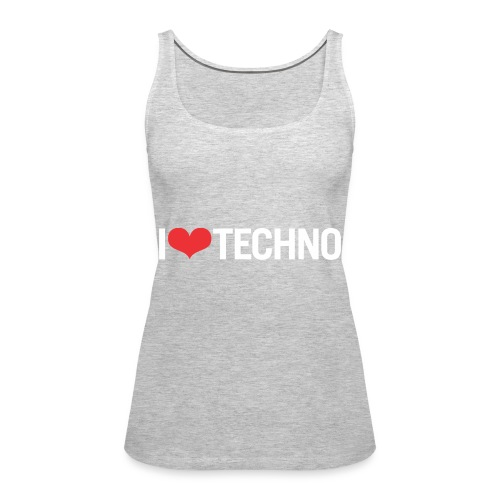 I Love Techno - Women's Premium Tank Top