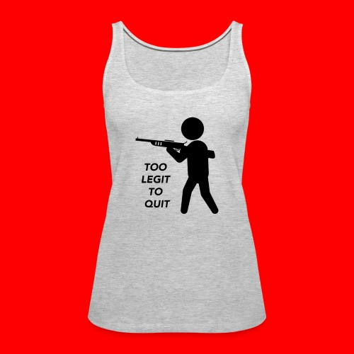 OxyGang: Too Legit To Quit Products - Women's Premium Tank Top