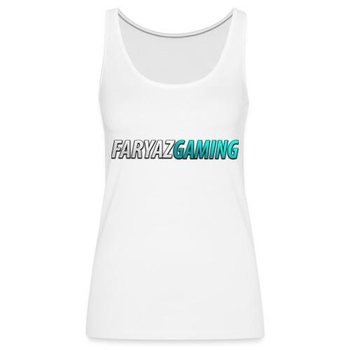 FaryazGaming Theme Text - Women's Premium Tank Top