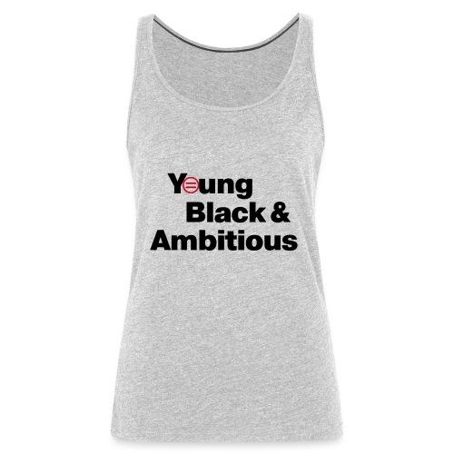 YBA white and gray shirt - Women's Premium Tank Top
