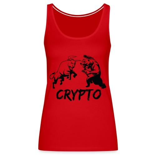 CryptoBattle Black - Women's Premium Tank Top