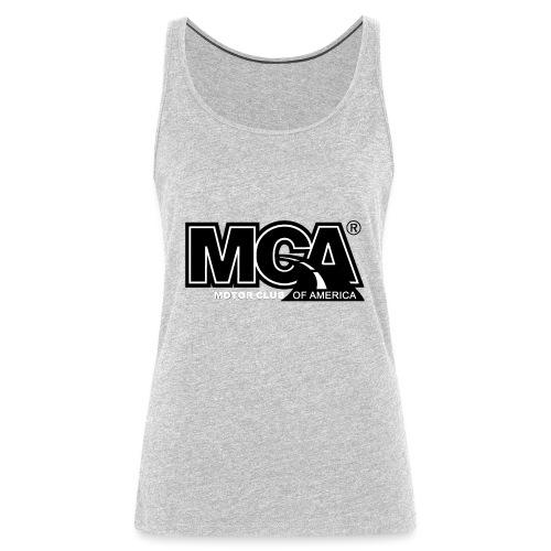 MCA Logo WBG Transparent BLACK TITLEfw fw png - Women's Premium Tank Top