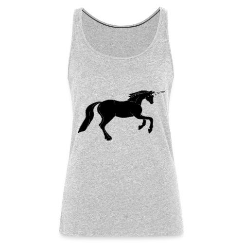unicorn black - Women's Premium Tank Top