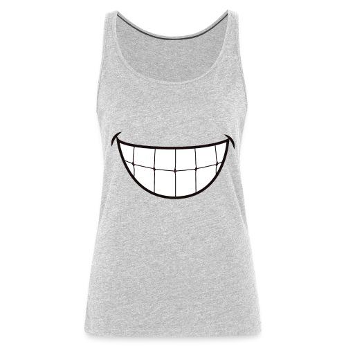 SMILE FACE MASK - Women's Premium Tank Top