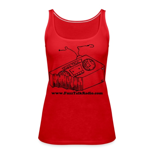 FTRLogoBlackAddress - Women's Premium Tank Top