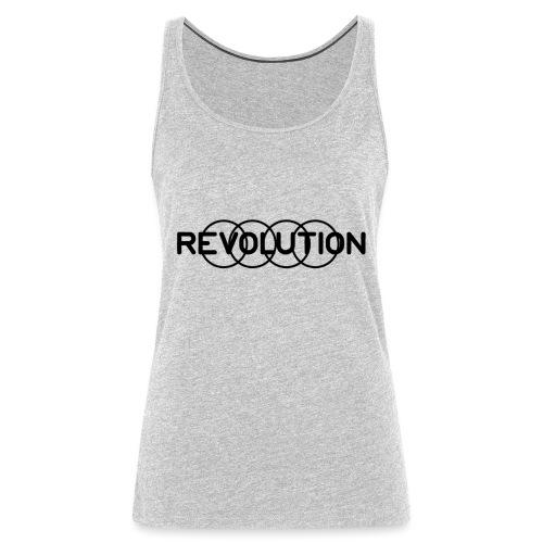 Revolution Black Logo - Women's Premium Tank Top