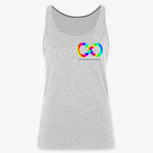 Neurodiversity with Rainbow swirl - Women's Premium Tank Top