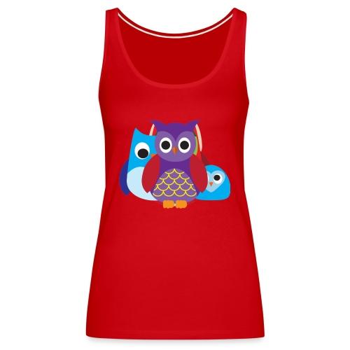 Cute Owls Eyes - Women's Premium Tank Top
