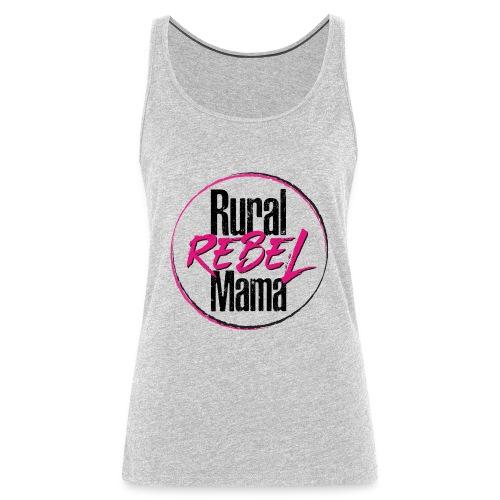 Rural Rebel Mama Logo - Women's Premium Tank Top