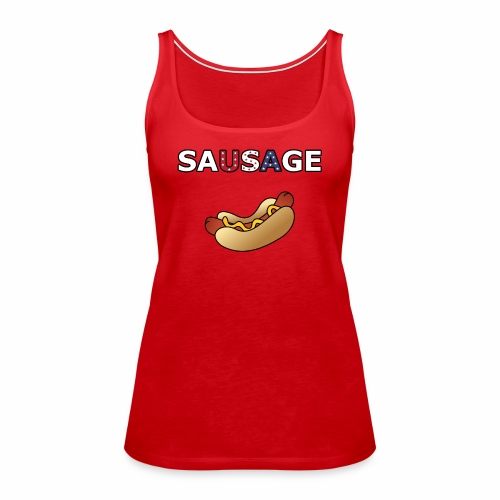 Patriotic BBQ Sausage - Women's Premium Tank Top