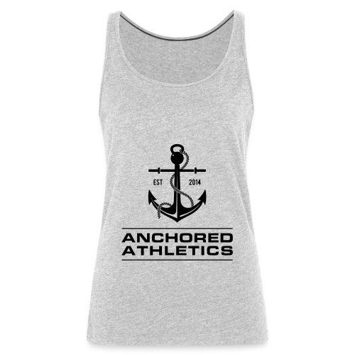 Anchored Athletics Vertical Black - Women's Premium Tank Top