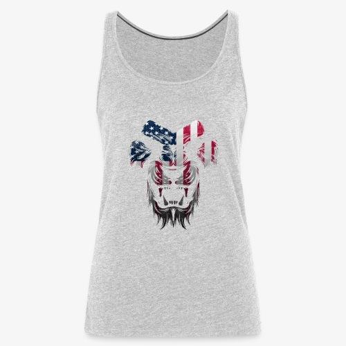 American Flag Lion Shirt - Women's Premium Tank Top