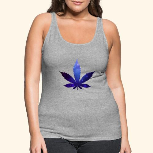 Cannabis Leaf - Galaxy - Weed - Women's Premium Tank Top