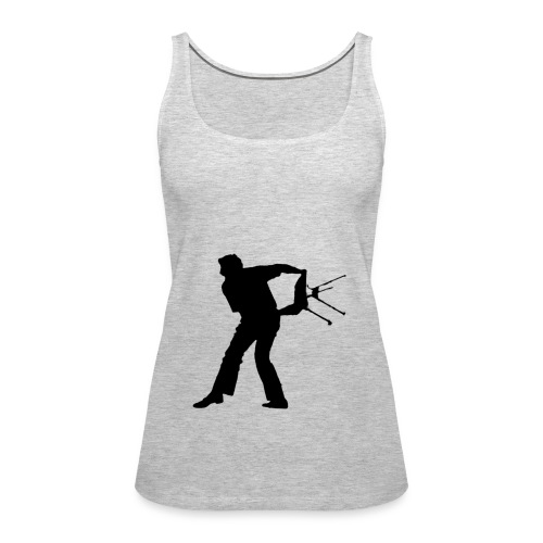 Chair Throwing Black - Women's Premium Tank Top