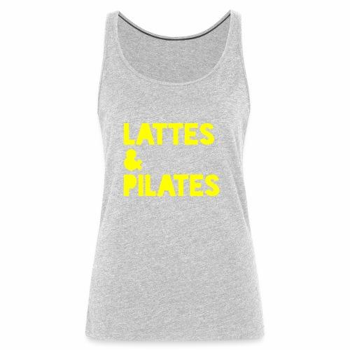 Lattes & Pilates - Women's Premium Tank Top