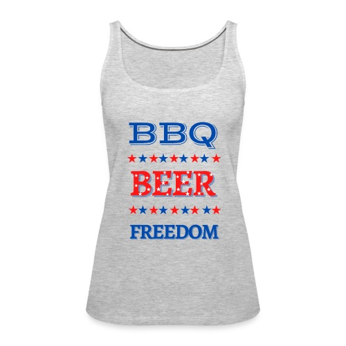 BBQ BEER FREEDOM - Women's Premium Tank Top