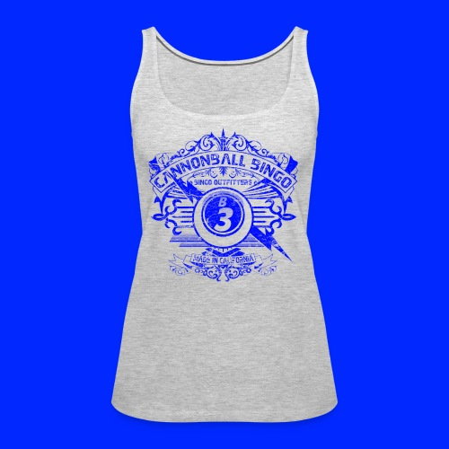 Vintage Cannonball Bingo Crest Blue - Women's Premium Tank Top
