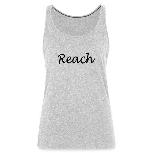 Classic Reach logo black - Women's Premium Tank Top