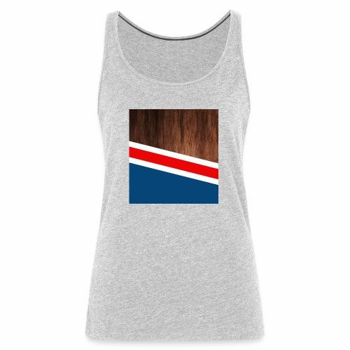 Wooden stripes - Women's Premium Tank Top