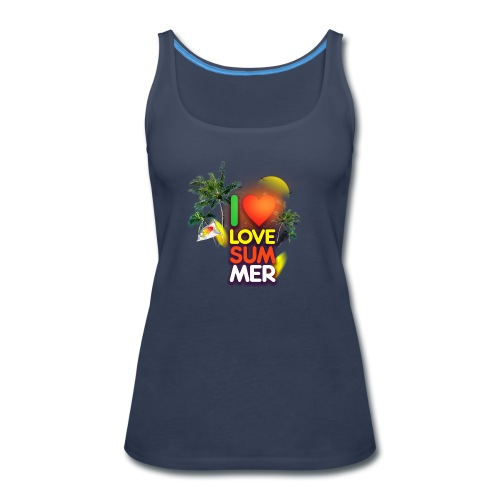 I love summer - Women's Premium Tank Top