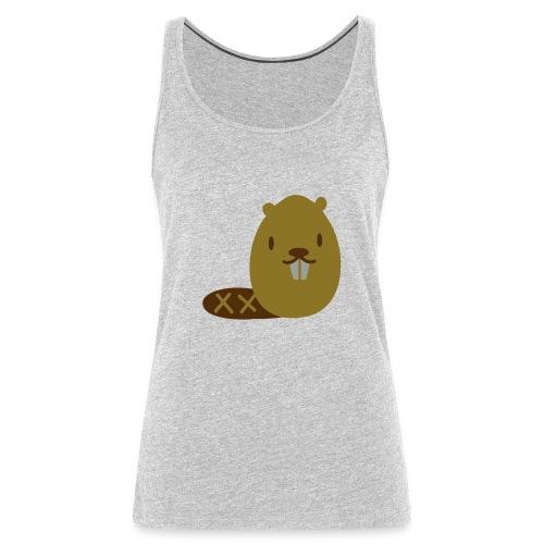 Cute Beaver - Women's Premium Tank Top