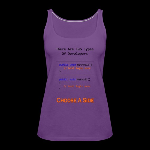 Code Styling Preference Shirt - Women's Premium Tank Top