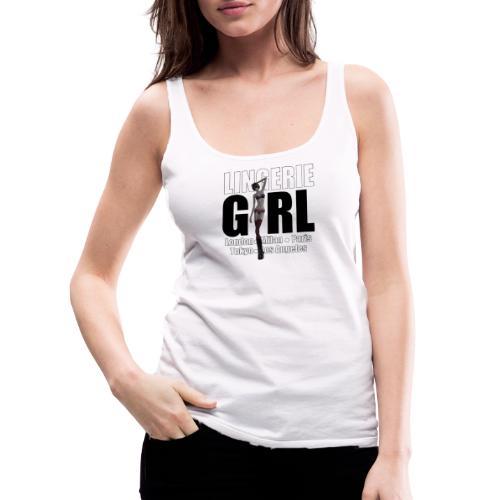 The Fashionable Woman - Lingerie Girl - Women's Premium Tank Top