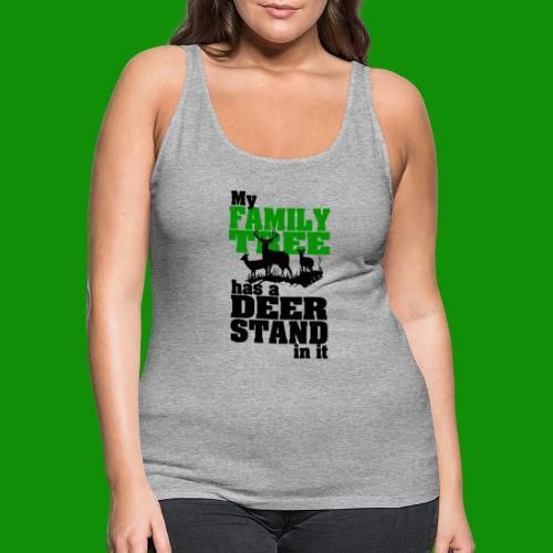 Deer Stand Family Tree - Women's Premium Tank Top