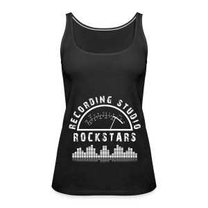 Recording Studio Rockstars - White Logo - Women's Premium Tank Top