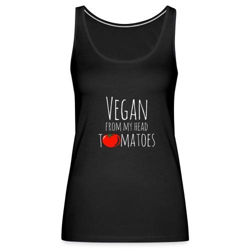 Vegan from my head tomatoes - Women's Premium Tank Top