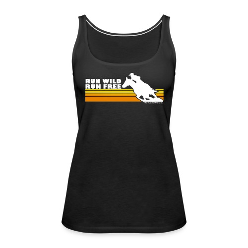 Vintage Run Wild, Run Free - Wild Cactus Design - Women's Premium Tank Top
