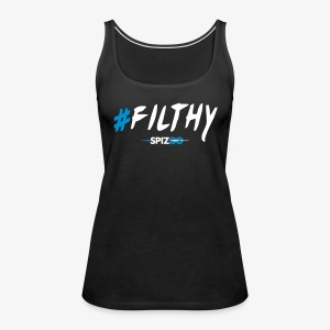 #Filthy Black - Spizoo Hashtags - Women's Premium Tank Top