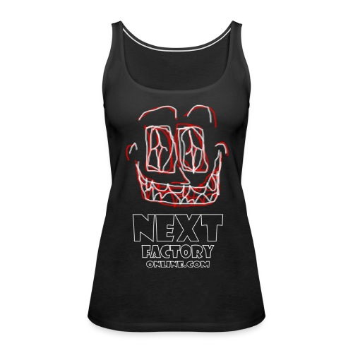 Next Factory Online Showcard Red and White WhtText - Women's Premium Tank Top