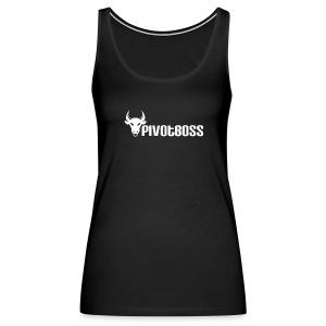 PivotBoss White Logo - Women's Premium Tank Top