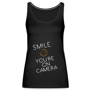 Smiley Cam Alert - Women's Premium Tank Top