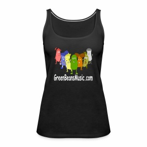 Green Bean's Music Apparel White Logo - Women's Premium Tank Top