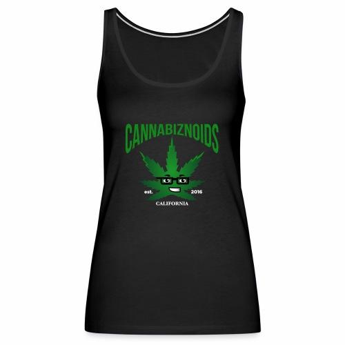 Cannabiznoids Logo with Text - Women's Premium Tank Top