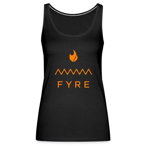 FyreLogoOrange - Women's Premium Tank Top