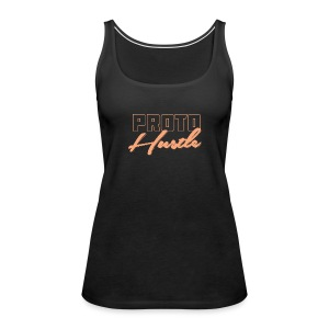 PROTO HUSTLE LOGO PEACH - Women's Premium Tank Top